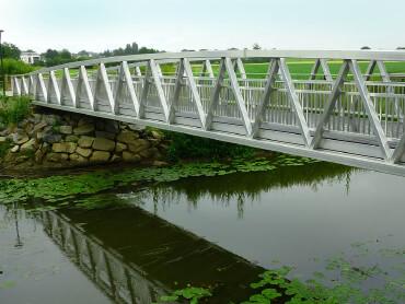 Aluminium loopbruggen