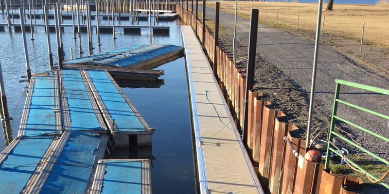Aluminium drijvende steigers jachthaven