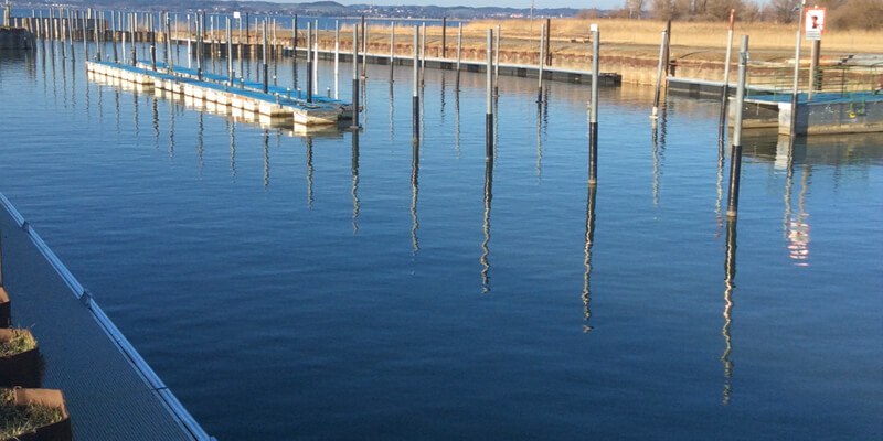 Aluminium drijvende steigers jachthavens
